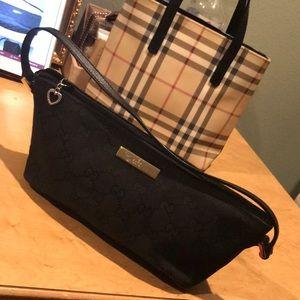 Authentic Small Gucci Monogram Black Bag